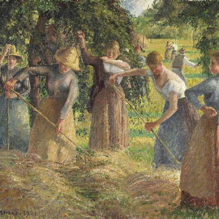 Harvest at Éragny, Camille Pissarro