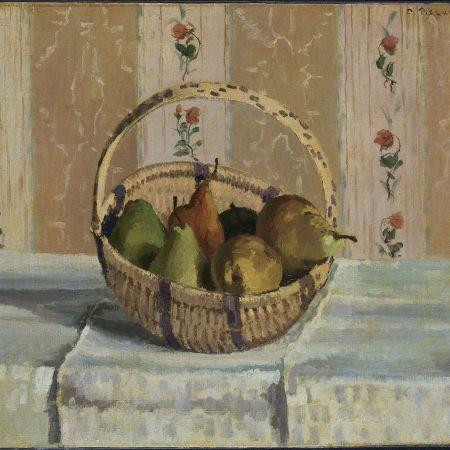Νεκρή φύση: φρούτα σε στρογγυλό καλάθι, Camille Pissarro