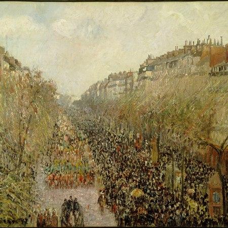 Λεωφόρος Μονμάρτης: Mardi Gras, Camille Pissarro