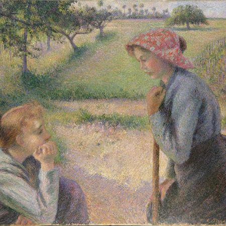 Δύο νεαρές αγρότισσες, Camille Pissarro.