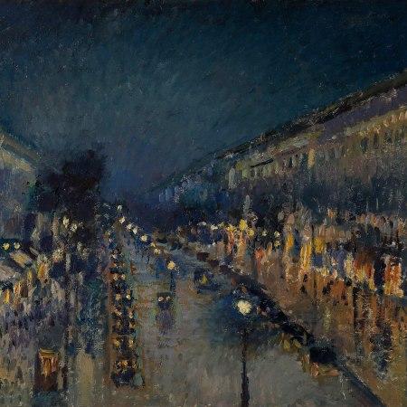 Η Λεωφόρος Μονμάρτης τη νύχτα, Camille Pissarro