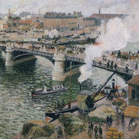 Βροχερός καιρός στο Pont Boieldieu, Ρουέν, Camille Pissarro