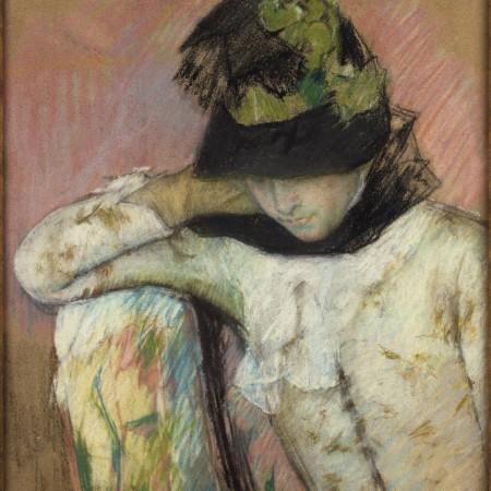 Νεαρή γυναίκα με μαυροπράσινο σκούφο, Mary Cassatt