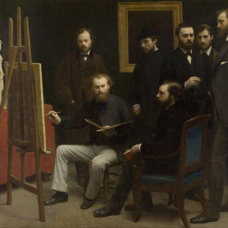 Στούντιο στις Batignolles, Henri Fantin-Latour