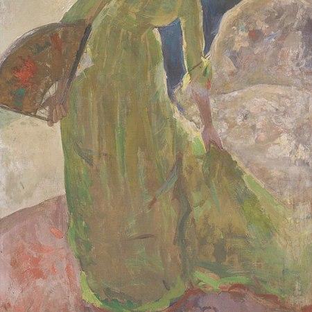 Γυναίκα που στέκεται κρατώντας βεντάλια, Mary Cassat